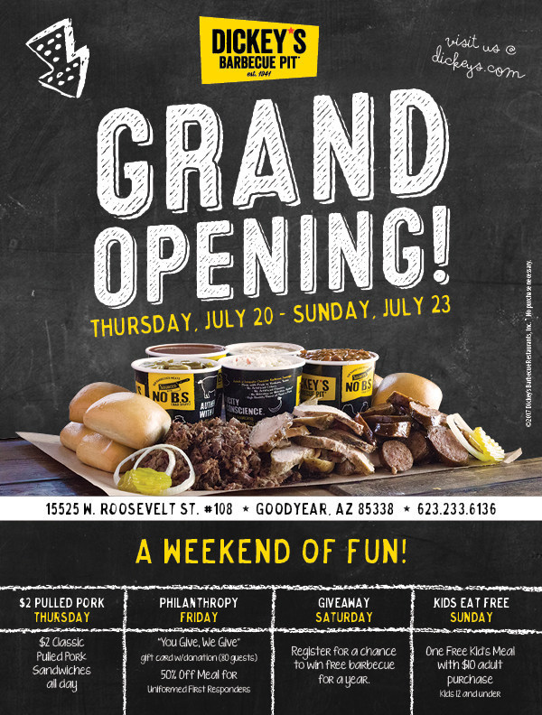 Dickey's Barbecue Pit Grand Opening in Goodyear, Arizona