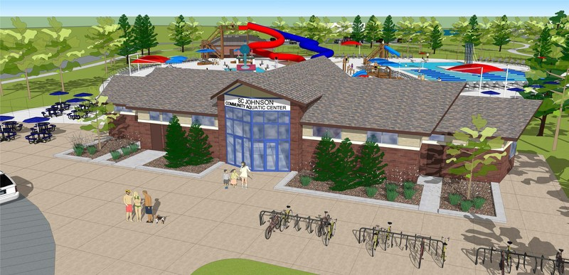 SC Johnson Community Aquatic Center artist rendering.