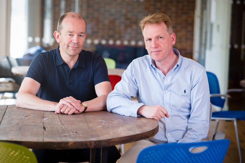 Graphcore founders Nigel Toon, CEO (on right) and Simon Knowles, CTO (on left)