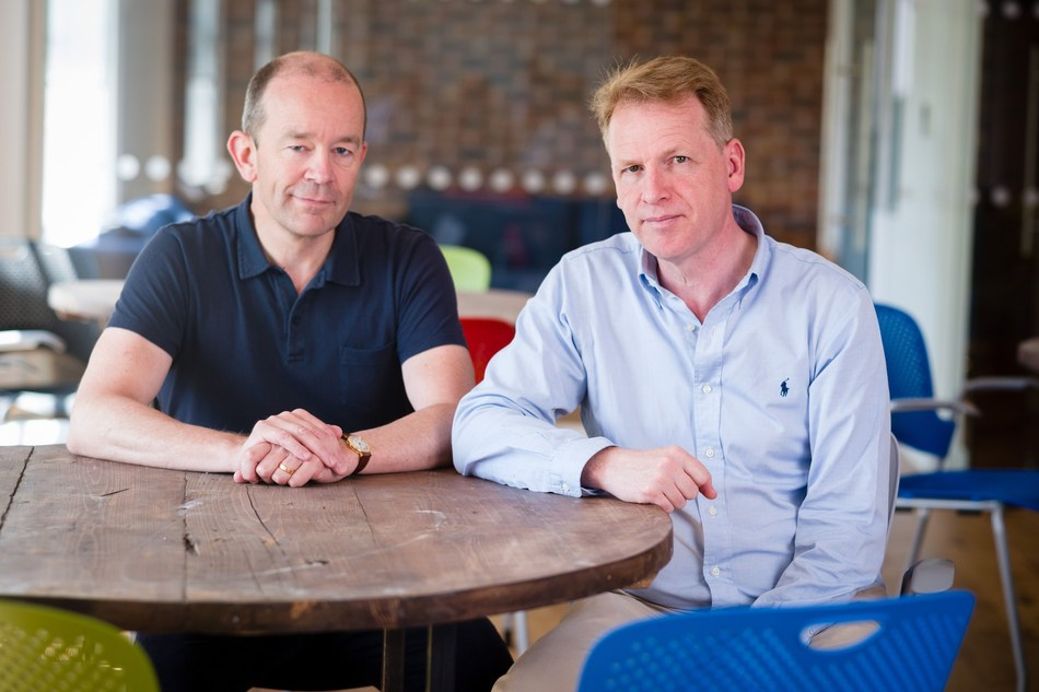 Graphcore founders Nigel Toon, CEO (on right) and Simon Knowles, CTO (on left) (PRNewsfoto/Graphcore)