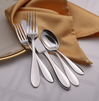 The Betsy Ross pattern features an elegant teardrop shape with a mirror finished handle and bowl. Slightly larger than traditional American sizing; its sleek design along with exceptional balance and weight make it a popular flatware pattern! Sherrill Manufacturing has been manufacturing flatware for more than a decade.