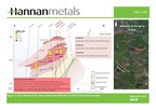 Figure 1: Cross Section 1225. New results from drill hole 17-3679-217 and plan location. (CNW Group/Hannan Metals Ltd.)