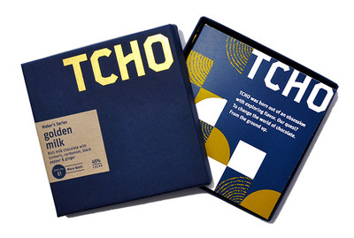 TCHO Maker's Series micro batch no.1, Golden Milk Chocolate bar, 45%.