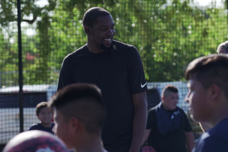 NBA All-Star Kevin Durant surprised students Thursday at IDEA Rundberg in Austin as part of BBVA Compass' Summer of Opportunity initiative to pay it forward through random acts of kindness.
