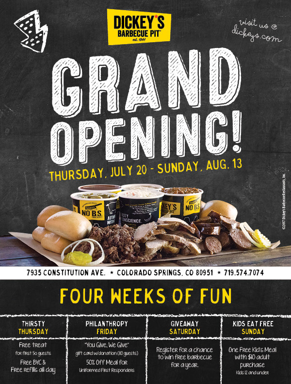 Dickey's Grand Opening in Colorado Springs