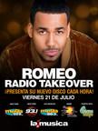 Spanish Broadcasting System estrena exclusivamente el álbum de Romeo Santos a través de las estaciones de radio en Estados Unidos el viernes 21 de julio