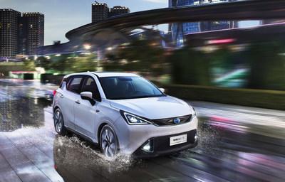 GE3 da GAC Motor: um modelo pioneiro de veículo 100% elétrico inteligente (PRNewsfoto/GAC Motor)