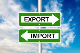 Import export arrows signpost