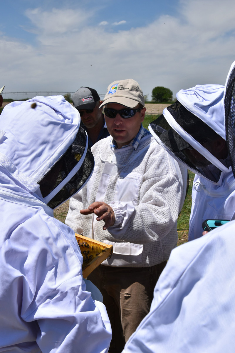 Kirk Tubbs of Tubbs Berry Farm, one of the winners of the 2017 Bayer Bee Care Community Leadership Award, works to educate his community about the importance of honey bees.