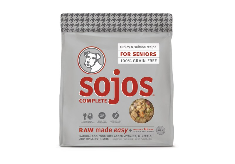 Sojos Complete for Seniors helps support the specific needs of mature dogs, rounding out the brand's life-stage offerings.