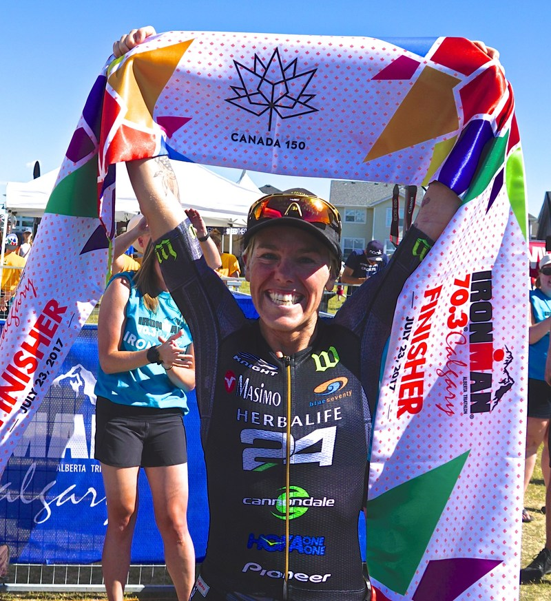 "Herbalife Nutrition congratulates its sponsored triathlete Heather Jackson on winning the IRONMAN 70.3 Calgary, Canada. ""I'm ecstatic, it's always an honor to break the finish line tape first and today was no different,"" said Heather Jackson. ""I'm excited with where my fitness is at as I begin a 12 week training build towards the IRONMAN World Championships."" Jackson completed the race with a time of 3 hours, 57 minutes and 20 seconds."
