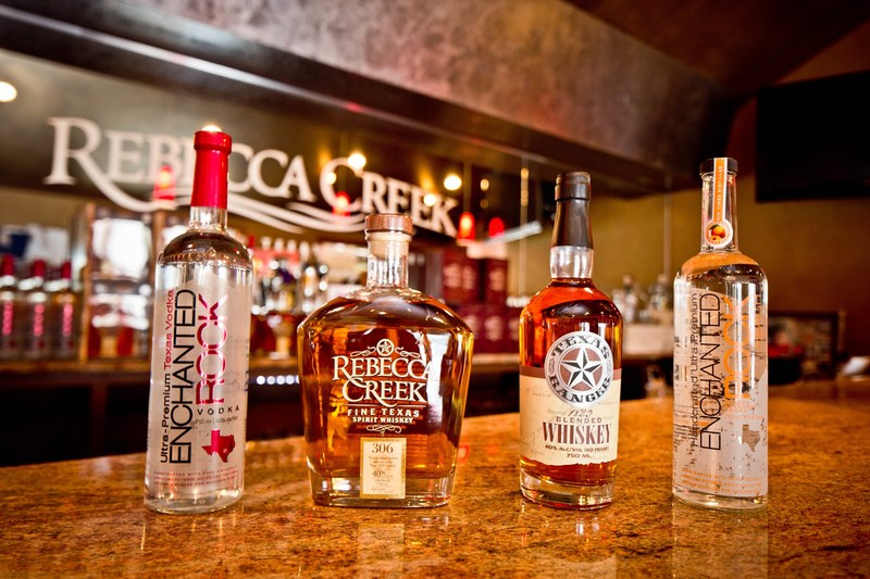 Rebecca Creek Distillery has grown to become one of the largest craft distilleries in North America, with more than 100,000 cases expected to be sold annually by 2018. Its product lineup includes Rebecca Creek Fine Texas Whiskey, Texas Ranger Whiskey, Enchanted Rock Vodka, and Enchanted Rock Peach Vodka.