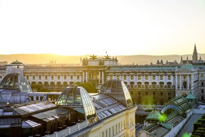 View of the Hofburg - Vienna is becoming increasingly popular as a tourist destination: 4.2% more bednights in the first half of 2017. © WienTourismus/Christian Stemper (PRNewsfoto/Vienna Tourist Board)