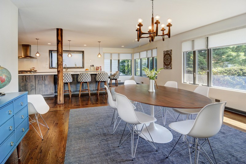 Mid-Century Modern Open Concept Dining Room-Kitchen Renovation