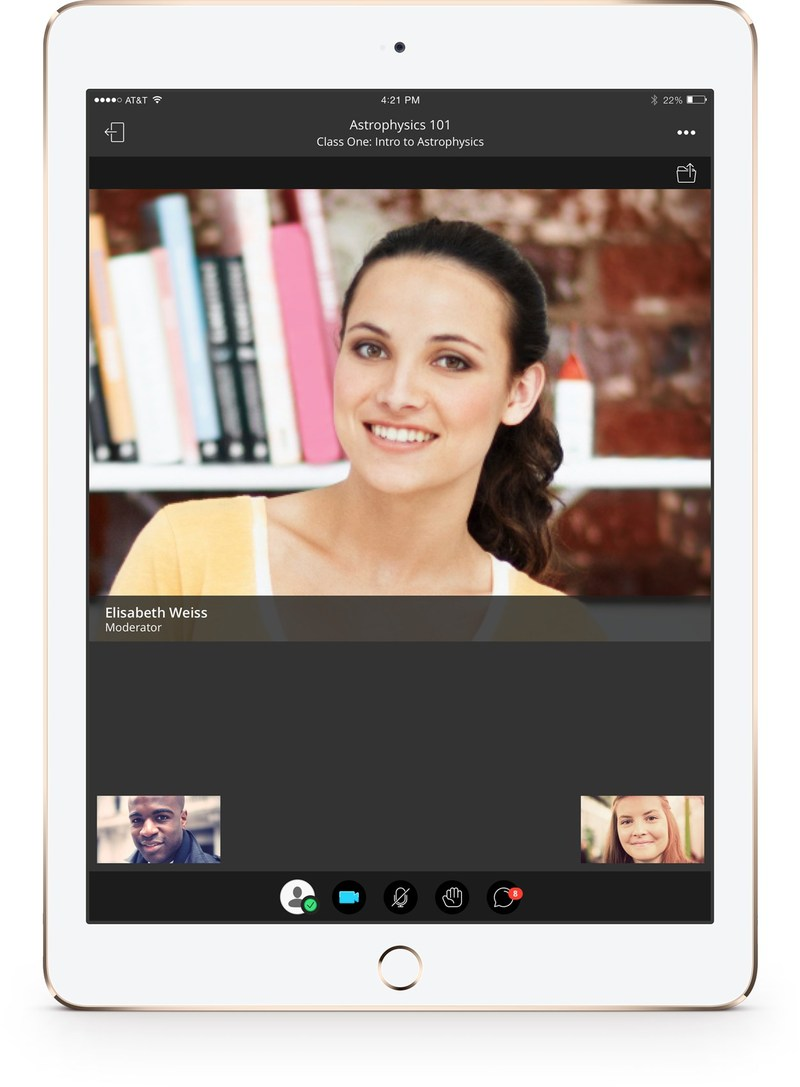 Instructors can join or host web conferencing sessions using Blackboard Collaborate directly in the app.