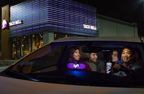 """Fans can officially add a Taco Bell stop to their Lyft ride through """"Taco Mode."""""""
