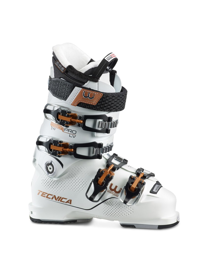 ISPO award winner, Tecnica Mach 1 Pro Women Ski Boot: A ski boot made for women by women that uses Celliant and Lambswool Heat from Imbotex in its lining to address women's specific needs for warmth, comfort and performance on and off the slope. Release date: Fall 2017