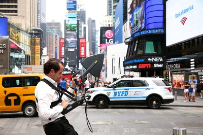 P3 interference Busters use high-tech spectrum analyzers and expert analysis to identify and shut down the sources of signals that interfere with wireless communications. P3's Michael Schwab searches for radio frequency (RF) interference amid the blazing billboards of New York City's Times Square.