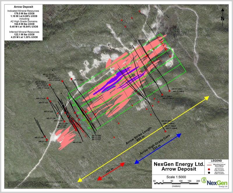 Figure 3: Arrow Hole Locations (CNW Group/NexGen Energy Ltd.)