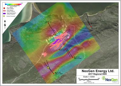 Figure 4: Exploration Drill Hole Locations (CNW Group/NexGen Energy Ltd.)
