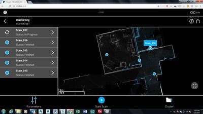 FARO SCENE 7.0 – Enregistrement sur le terrain, en temps réel, dans le navigateur Web