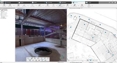 FARO SCENE 7.0 – Carte globale avec données du balayage laser du chantier de construction