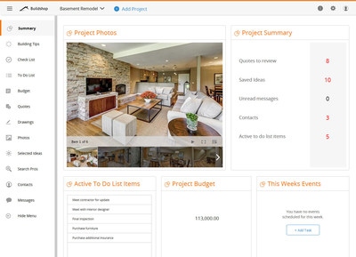 First and Only All-In-One Building and Remodeling App for Homeowners