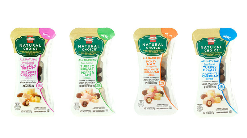 Four new varieties of Hormel® Natural Choice® snacks. Photo courtesy of Hormel Foods.