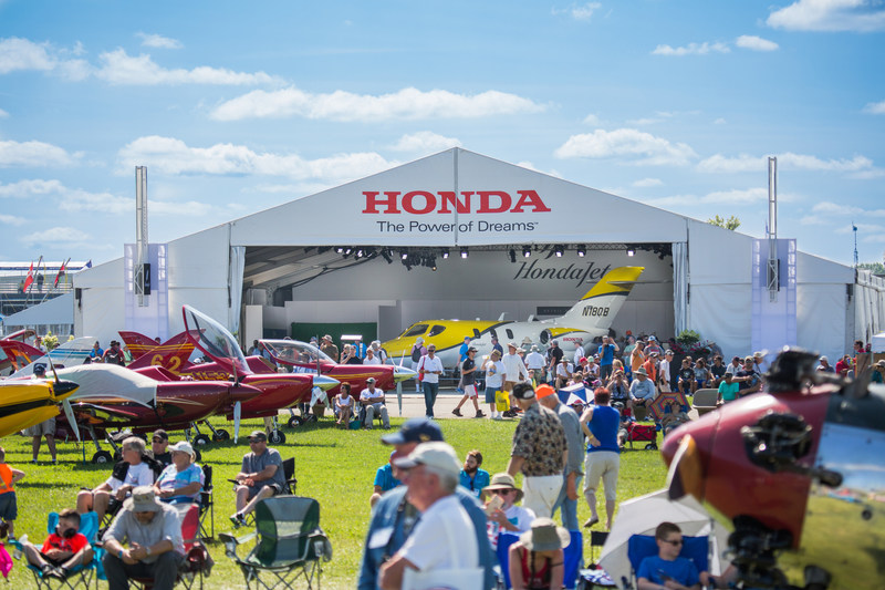 HondaJet on display at 2017 EAA AirVenture Oshkosh.