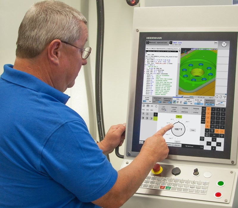 HEIDENHAIN's New TNC 620 Control with Touch Screen