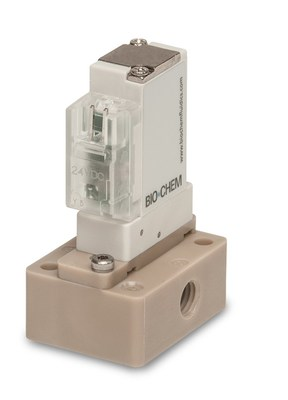 The OPUS Solenoid Operated Rocker Valve. This is the product of a co-development effort between Bio-Chem Fluidics, Inc. (Bio-Chem), and Koganei Corporation (Koganei), bringing to market a Manifold Mount Rocker Valve specifically designed to meet the needs of clinical diagnostics and life science applications.