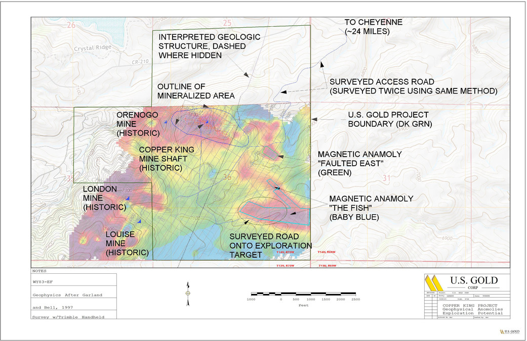 US Gold Corp Provides Copper King Project Update - Map of where copper is mined from us