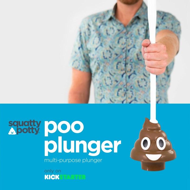 Poo Emoji Plunger only on Kickstarter