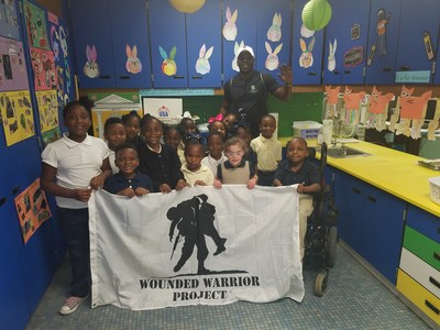 Wounded Warrior Project® (WWP) veterans recently read books to kindergarten and first-grade children at Dozier and Wilson elementary schools as part of a volunteer program they created called the Warrior Reading Initiative.