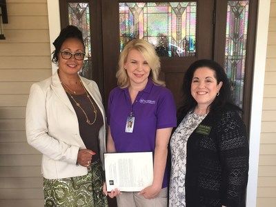 Congratulations to NCCDP's 2017 CNA of the Year Lisa Ford! Lynn Biot Gordon, Chief Operating Officer of the NCCDP (left), and Sandra Stimson, Chief Executive Officer of the NCCDP (right), were proud to award Lisa Ford (center) CNA of the Year.