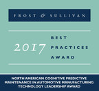 Frost & Sullivan Honors Progress' DataRPM with the 2017 Technology Leadership Award for Cognitive Predictive Maintenance in Automotive Manufacturing