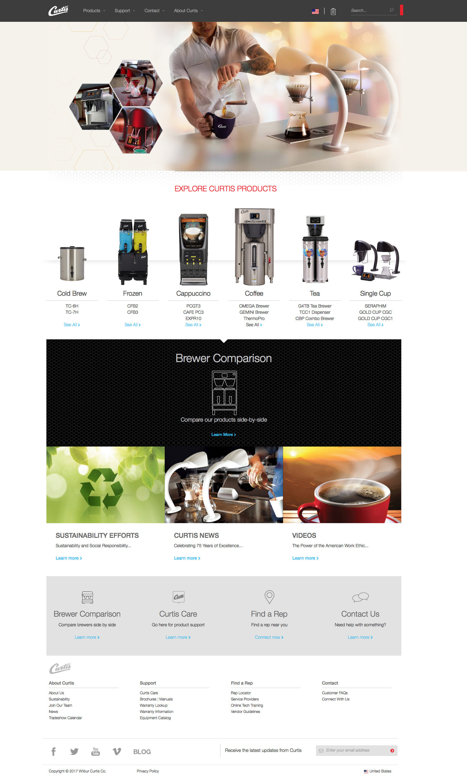 wilburcurtis.com homepage