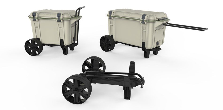 OtterBox introduces All-Terrain Wheels as an accessory for Venture Coolers at Outdoor Retailer Summer Market 2017.