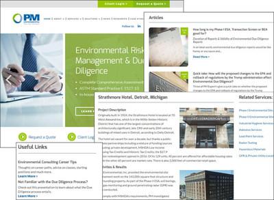 PM Environmental's new website