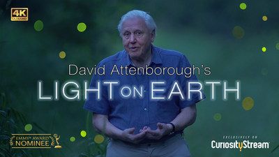 """Explore the incredible world of luminous creatures in """"David Attenborough's Light on Earth,"""" available to watch now on CuriosityStream."""