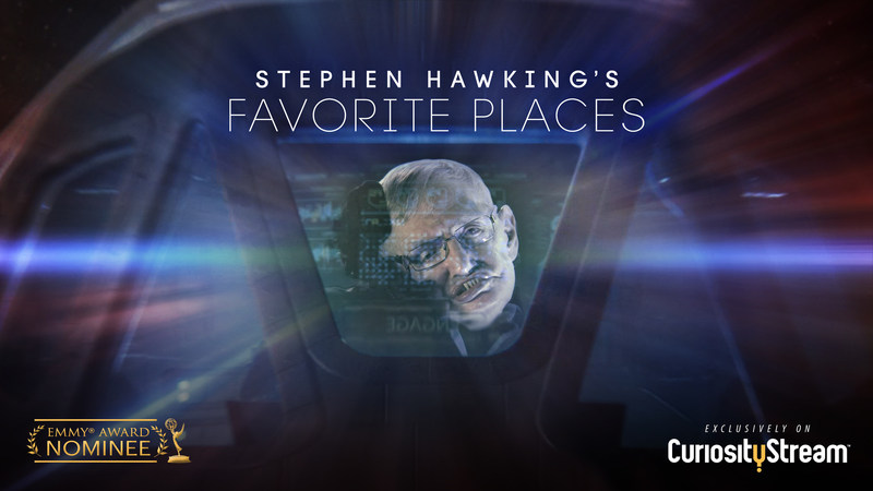 """Join Commander Hawking on a unique and personal cosmic journey in """"Stephen Hawking's Favorite Places,"""" available to watch now on CuriosityStream."""