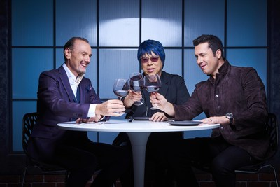 (L-R) MASTERCHEF CANADA judges Michael Bonacini, Alvin Leung and Claudio Aprile (CNW Group/CTV)