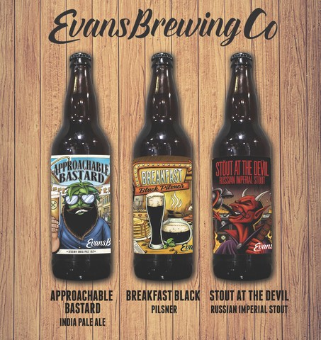 Evans Brewing Co. set to release three new bottle offerings