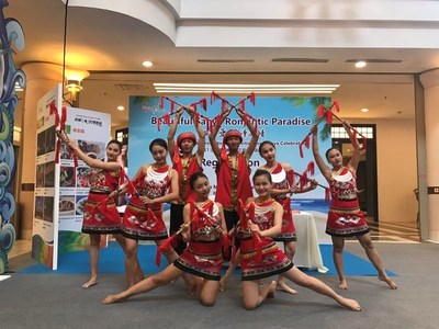Li Nationality, one large ethnic group in Hainan Island, enjoys singing and dancing