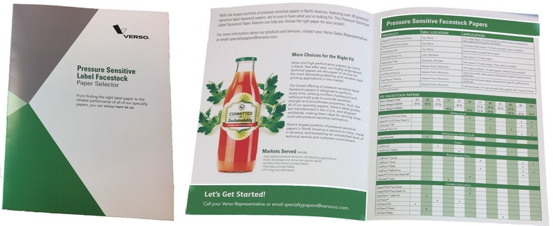 Verso Introduces Two Specialty Paper Selector Guides Showcasing Over Sixty Release Liner and Pressure Sensitive Facestock Papers
