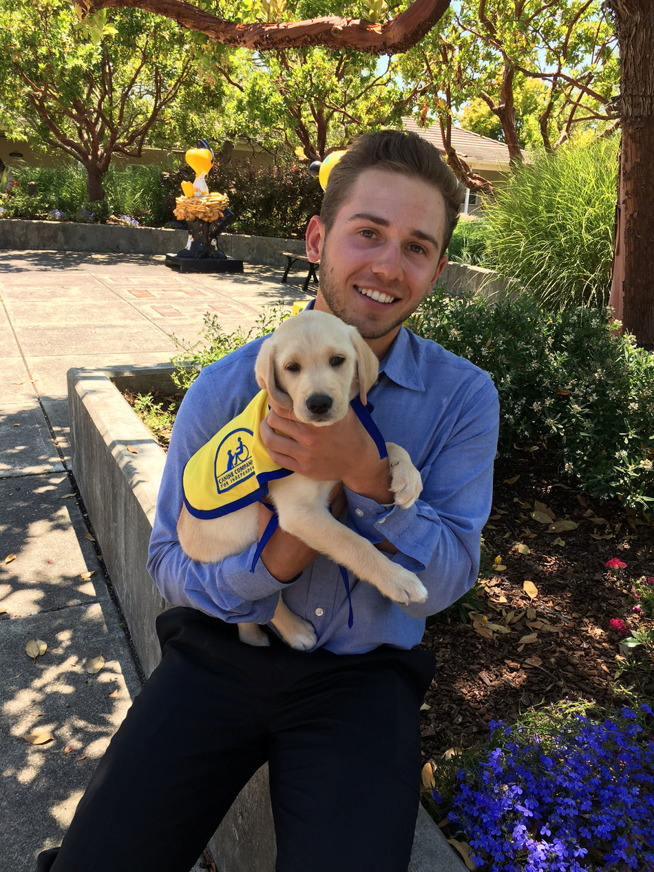 Kyle Weatherman partners with Canine Companions for Independence