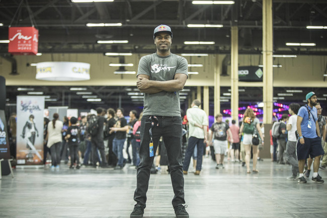 Snake Eyez poses for a portrait at The Evolution Championship Series (Evo) at Mandalay Bay in Las Vegas, NV, USA on 14 July, 2017.
