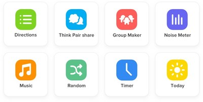 The eight initial tools in ClassDojo's Toolkit