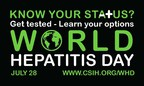 Logo: World Hepatitis Day (CNW Group/Canadian  Society for International Health (CSIH))