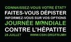 Logo: Journée mondiale contre l'hépatite (Groupe CNW/Société canadienne de santé internationale (SCSI))